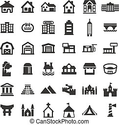 Buildings Icons - This image is a illustration and can be...