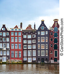 Buildings in Amsterdam, Netherlands.