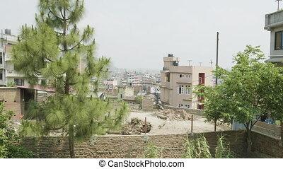 Buildings in asian city Kathmandu, Nepal. - Buildings in ...