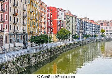 Buildings in Bilbao city