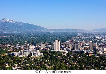 Salt Lake City, Utah - Buildings in downtown Salt Lake City,...