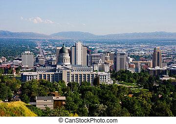 Salt Lake City, Utah - Buildings in downtown Salt Lake City...