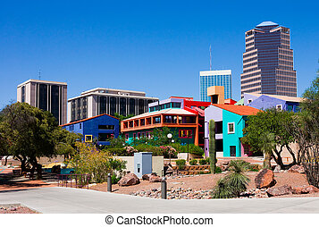 Tucson Arizona - Buildings in downtown Tucson Arizona