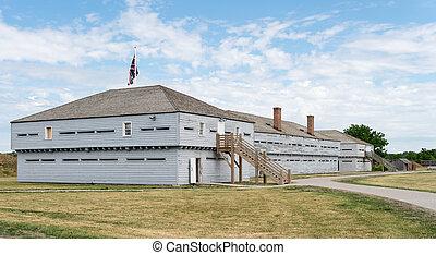 Buildings in Fort George in Ontario Canada