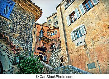 buildings in France village - old buildings in village of...