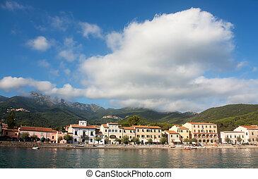Buildings In Marciana, Elba Island