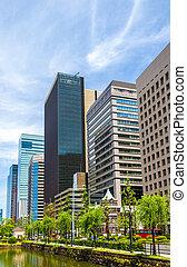 Buildings in Marunouchi downtown of Tokyo