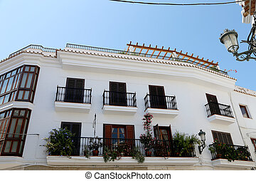 Buildings in Nerja, Andalusia, Spain. It is on the country...