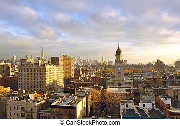 Buildings in New York City, Morning in Manhattan