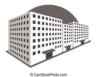 Buildings in perspective. Vector