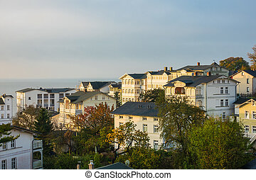 Buildings in Sassnitz on the island Ruegen, Germany