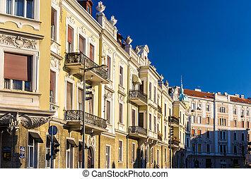 Buildings in the city center of Belgrade - Serbia