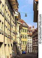 Buildings in the city center of Bern - Switzerland