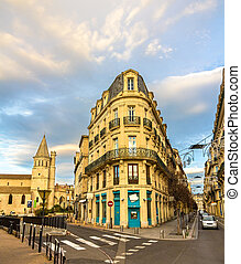 Buildings in the city center of Beziers - France