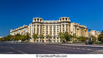 Buildings in the city center of Bucharest, Romania