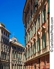 Buildings in the city center of Genoa - Italy