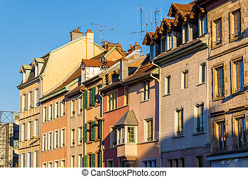 Buildings in the city center of Montbeliard - France, Doubs