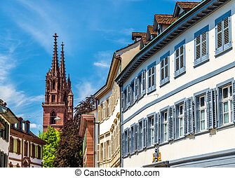 Buildings in the city centre of Basel
