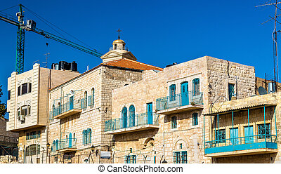 Buildings in the city centre of Bethlehem