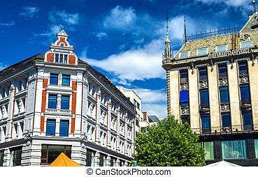 Buildings in the city centre of Oslo