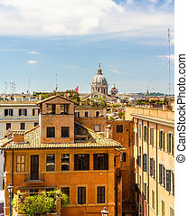 Buildings in the city centre of Rome