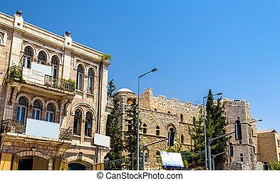 Buildings in the city centre of Jerusalem