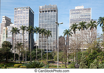 Buildings in the city of sao paulo.