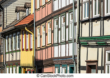 Buildings in the city Wernigerode, Germany