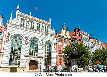 Buildings in the historic centre of Gdansk, Poland