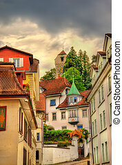 Buildings in the historic centre of Lucerne - Switzerland