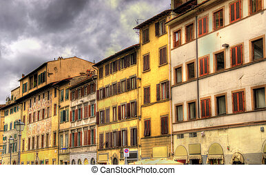 Buildings in the historic centre of Florence - Italy