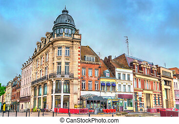 Buildings in Tourcoing, a town near Lille in Northern France...