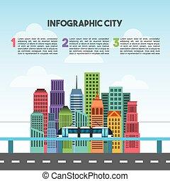 buildings infographic city presentation