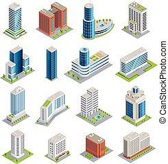 Buildings Isometric Set