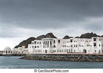 Buildings Muscat Oman - View to buildings in Muscat, Oman on...