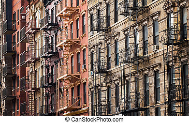 Buildings near Tompkins Square Park in the East Village of New York City