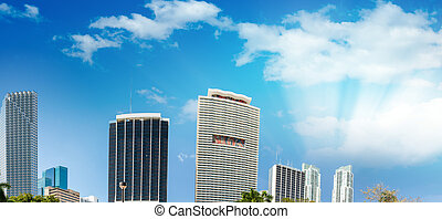 Buildings of Miami, beautiful Florida skyline