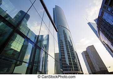 buildings of Moscow business center Moscow - city
