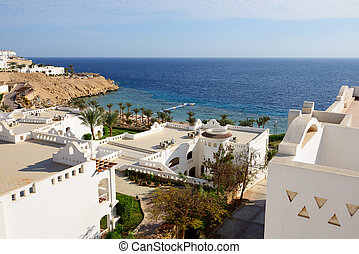Buildings of the luxury hotel, Sharm el Sheikh, Egypt