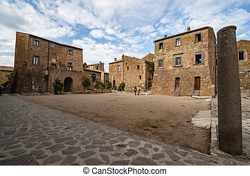 buildings in the Civita Bagnoregio town, Lazio, Italy