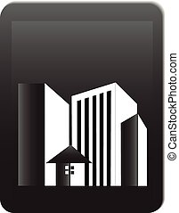Buildings offices real estate logo