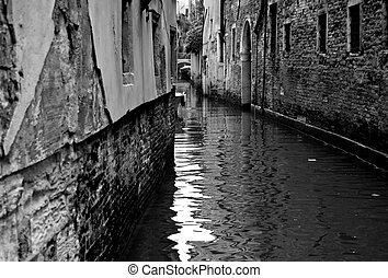 Buildings on a canal in Venice