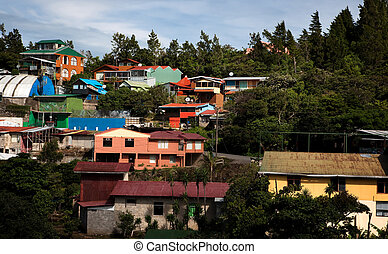 Buildings on a hillside in Santa Elena Costa Rica