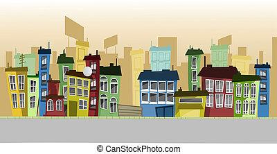 buildings on a street
