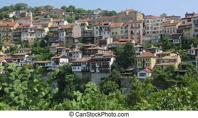 Buildings on hill in Bulgaria