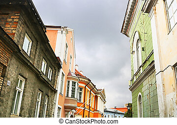 Buildings on Kiriku square in Tallinn, Estonia