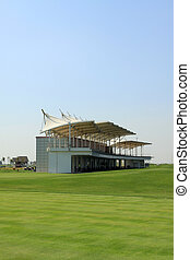 buildings on the golf course