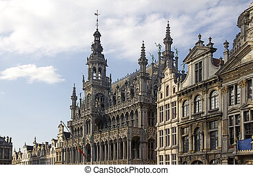 Brussels, Belgium - Buildings on the Grand Place in Brussels...