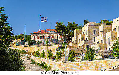 Buildings on the Mount of Olives in Jerusalem