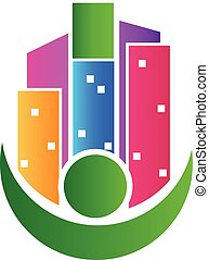 Buildings real estate agent logo